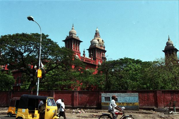 """A file photo of the Madras HC. The court notification making amendments to existing rules under the Advocates Act was aimed at ensuring """"peaceful"""" conduct of court proceedings. Photo: HT"""