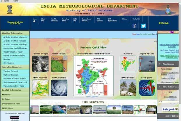 IMD is responsible for weather and climate related forecasts for the country.