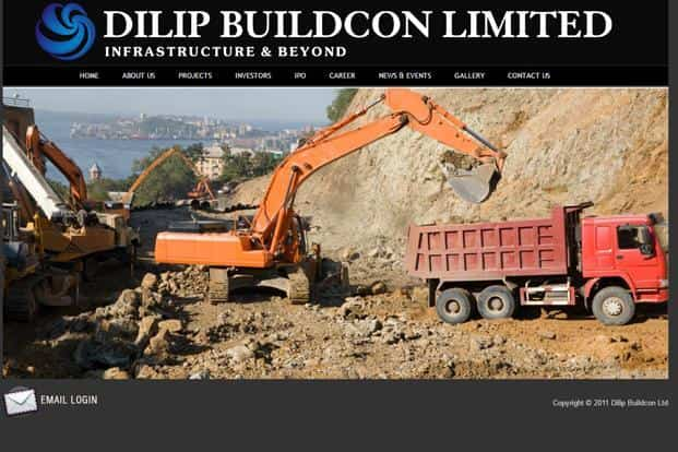 A screen grab of Dilip Buildcon website. At the lower end of the `214-219 price band for the issue, the IPO drew bids worth roughly `9,562.06 crore.
