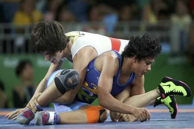 Babita Kumari will now eagerly await the progress being made by Maria Prevolaraki in order to get a second chance like her teammate Sakshi Malik did on Wednesday before winning bronze in the 58 kg category. Photo: Reuters