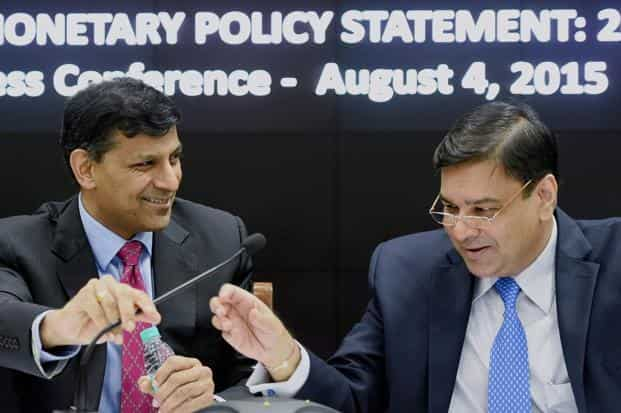 File photo. Urjit Patel's choice as the successor to Raghuram Rajan (left) is a vote for continuity and that is what markets and bankers are expecting as the new governor takes charge. Photo: PTI