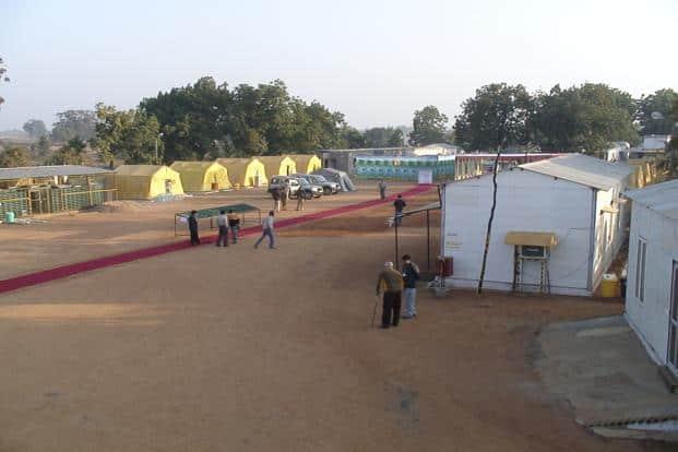A file photo of Bunder camp at the Bunder Project, a proposed diamond mine in Madhya Pradesh. Photo: Courtesy Sameergoswami/Wikimedia