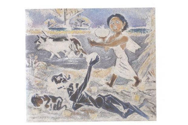 Ramkinkar Baij, 'Untitled (Famine)', est. $100,000-150,000