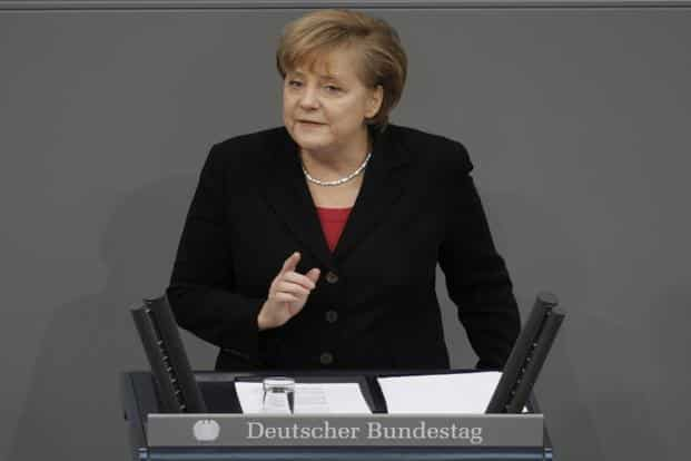 A recent poll shows 50% of voters don't want Angela Merkel to serve a fourth term, up from 48% last November at the height of the refugee crisis. Photo: Bloomberg