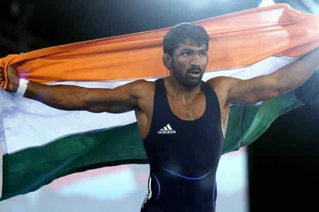 File photo. Yogeshwer Dutt, who had bagged a bronze medal in men's 60kg freestyle category in the London Games, has now joined Sushil Kumar as the other silver medallist wrestler from the 2012 Olympics. Photo: PTI