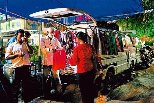 Anil Khanna sells women's undergarments from a Maruti van at Central Market, in Delhi's Lajpat Nagar. Priyanka Parashar/Mint