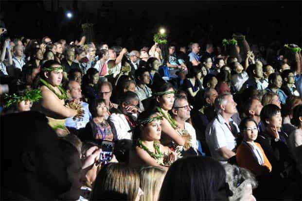 Delegates at the opening ceremony of the IUCN World Conservation Congress. Photo: Ananda Banerjee