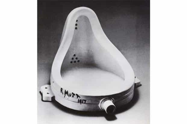 Marcel Duchamp's Fountain (the famed urinal, 1917)