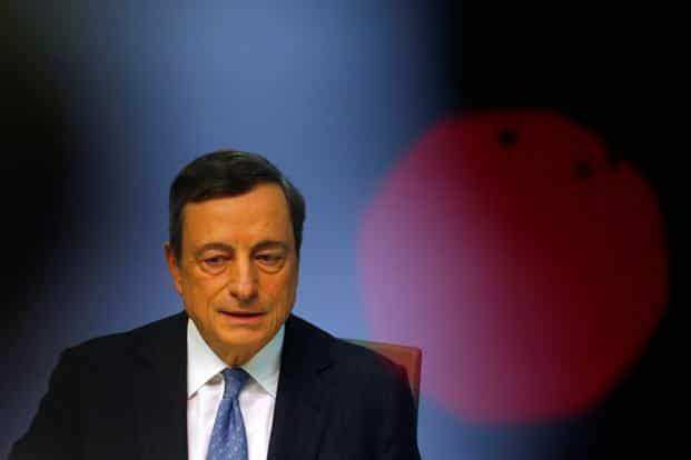European Central Bank president Mario Draghi. Inflation in the 19-nation euro area was 0.2% in August, unchanged from July, and core inflation weakened. Photo: Reuters