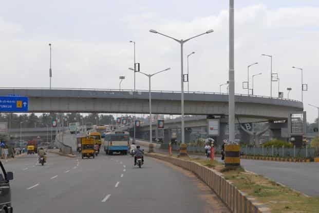 A file photo of a Bengaluru flyover. Photo: Hemant Mishra/Mint