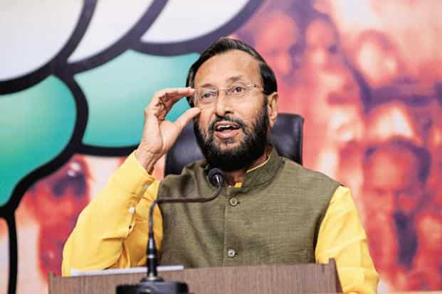 HRD minister Prakash Javadekar. The issue of reservation for faculty members is likely to spark another confrontation between the ministry and IIMs, just days after the two sides ironed out most issues in the IIM Bill. Photo: Ramesh Pathania/Mint