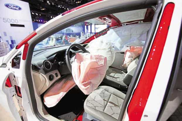 Car makers are gearing up to meet stricter safety norms and are offering airbags as standard, pointing to greater demand for such models. Photo: Bloomberg