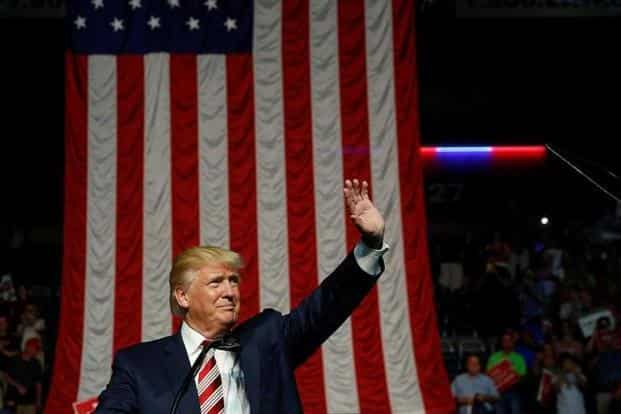 Republican presidential nominee Donald Trump holds a rally with supporters in Roanoke, Virginia. Photo: Reuters