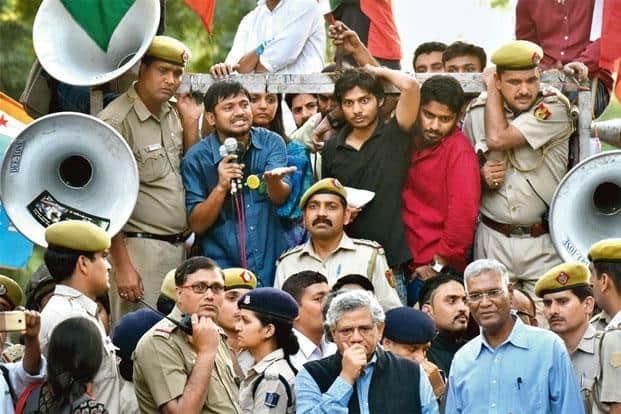 JNU student Kanhaiya Kumar's arrest triggered debates on the limits of free speech. Photo: Vipin Kumar/ Hindustan Times