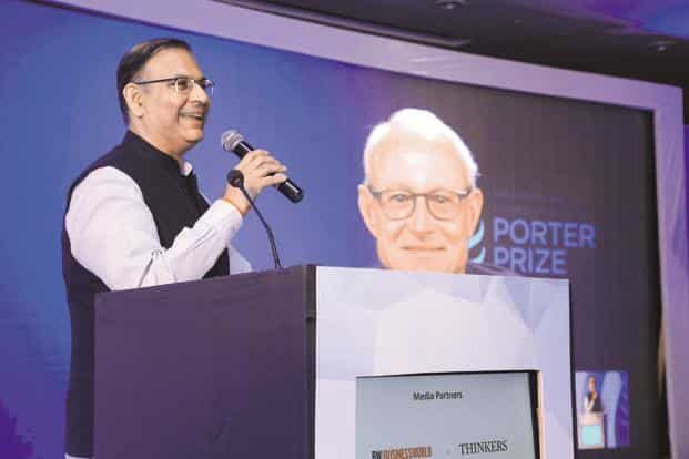 Minister of state for civil aviation Jayant Sinha speaks at the IFC (Institute for Competitiveness) Mint awards and Porter prizes at the National Competitiveness Forum.