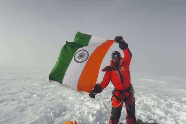 Arjun Vajpai reached the summit before dawn along with his two Sherpas after a 7-hour, all-night climb through rocky steps, mixed snow and a long traverse to the top.