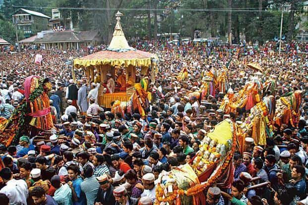 The Kullu Dussehra Mela which was started during the reign of raja Jagat Singh (1637-72), has another attraction: the custom of 'bali' (animal sacrifice)— made all the more significant because it is the first year of celebrations after the Himachal Pradesh high court banned the practice. Aqil Khan/Hindustan Times