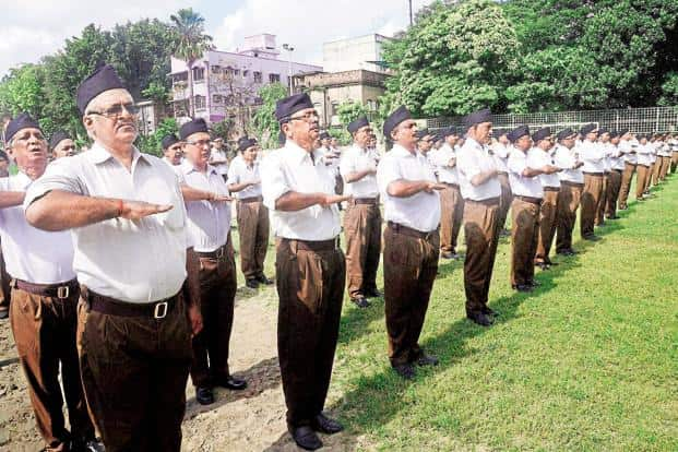 Since its formation in 1925, the Rashtriya Swayamsevak Sangh has made five changes in its uniform. Photo: PTI