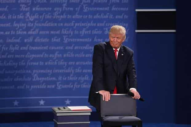 The second presidential debate followed a weekend of unprecedented crisis in the Republican nominee's campaign. Bloomberg