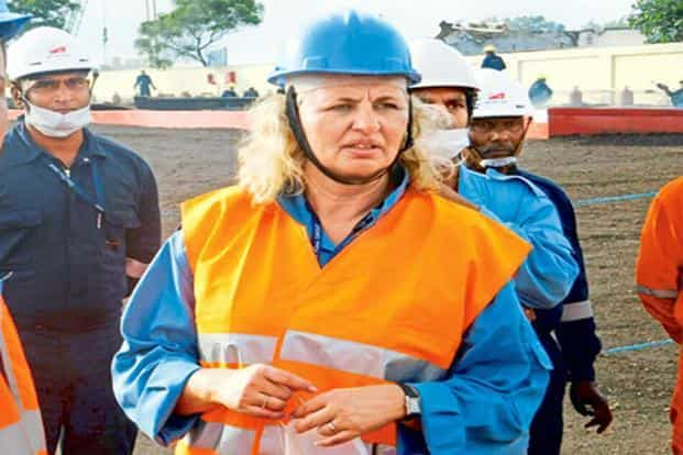 Annette Stube of AP Moller-Maersk says the topography is better in India than in some of the other places because the vessels can come right up to the edge of the facility.