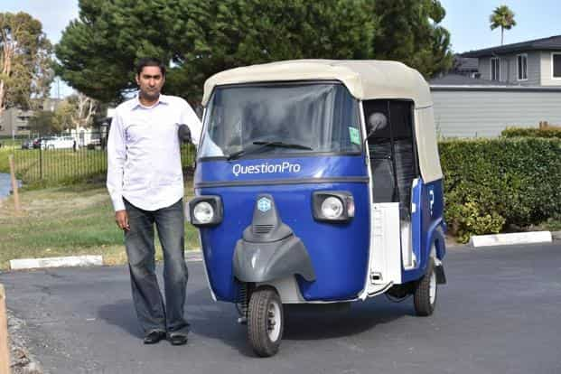 """QuestionPro CEO Vivek Bhaskaran  says, """"I am into motor vehicles anyway and have been especially fascinated with autos."""""""