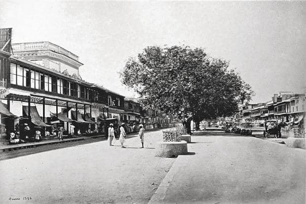 An 1860s' photograph of Chandni Chowk, the principal street of Shahjahanabad. Photo: Wikimedia Commons