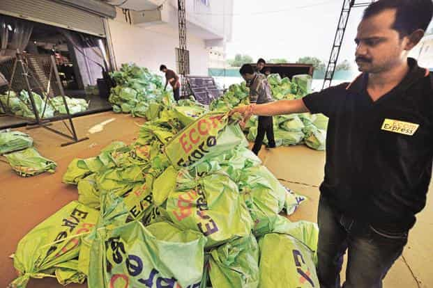 E-commerce-focused logistics firm Ecom Express is currently doing 250,000 deliveries per day and expects volumes to spurt to 500,000 deliveries per day during the festive season. Photo: Priyanka Parashar/Mint