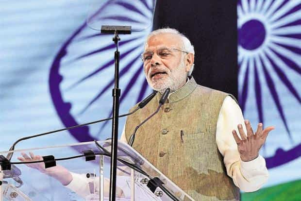 """File photo. Saying """"blood and water cannot flow together,"""" Modi has settled on water, which flows from India into Pakistan, as a powerful new instrument of foreign policy. Photo: PTI"""