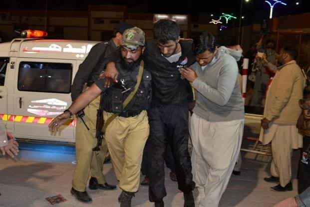 Most of the dead were police cadets. Monday night's assault was the deadliest in Pakistan since a suicide bomber killed 70 people in an attack on mourners gathered at a hospital in Quetta in August. AP