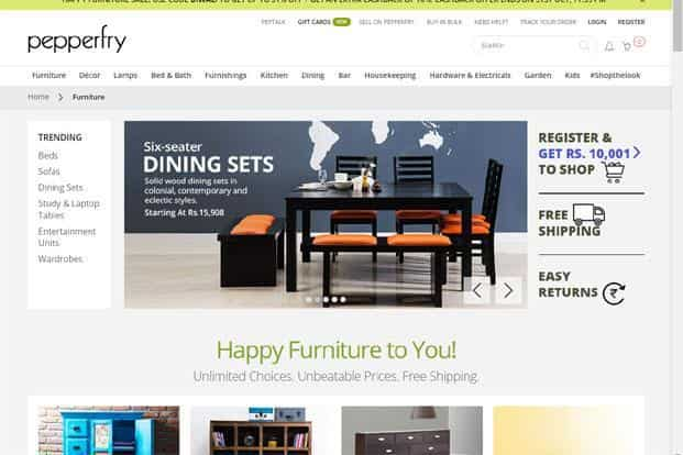 Pepperfry, India's most well-capitalized homegrown online furniture business, has raised more than $160 million from Goldman Sachs, Bertelsmann India Investments and Zodius Capital among others.