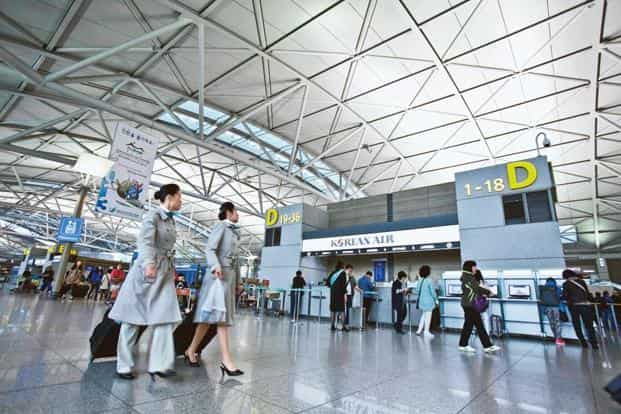 The Incheon airport in Seoul. Photo: Jean Chung/Bloomberg