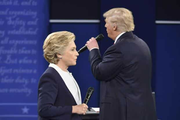 A file photo of Donald Trump and Hillary Clinton. Photo: AFP