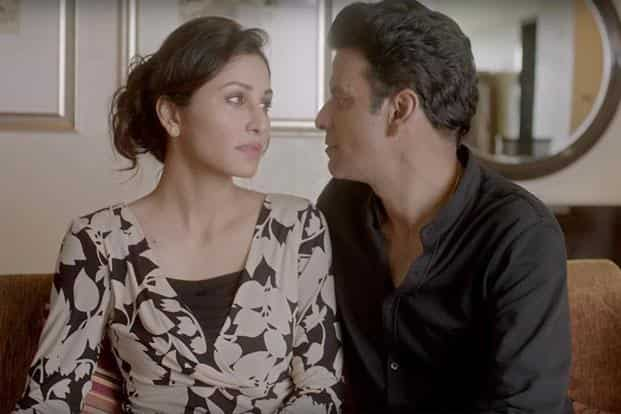 Manoj Bajpayee (right) and Pooja Chopra in a still from 'Ouch'