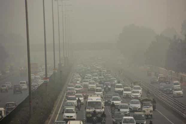 A file photo of the national capital engulfed in smog. Photo: PTI