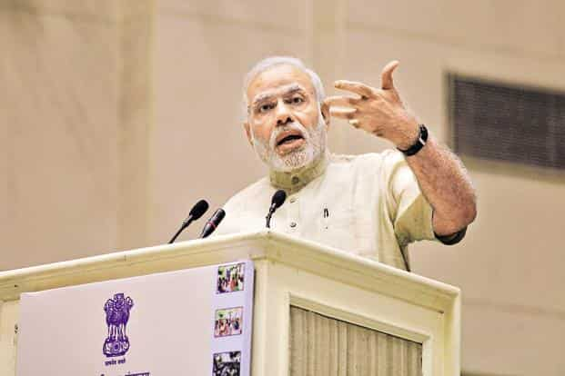 PM Modi termed the demonetisation as 'Swachhata Abhiyan' and hailed the spirit of people despite their hardship following its announcement on 8 November. Photo: Hindustan Times