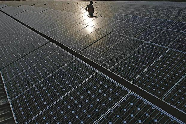 India has a target of setting up 100 GW of solar energy capacity by 2022. Photo: Bloomberg