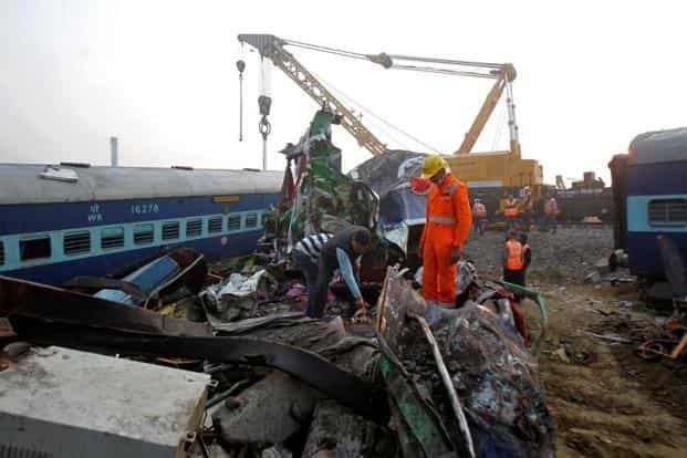 Authorities are looking into the possibility a fractured track caused the train to roll off the rails on its journey between the cities of Patna and Indore. Reuters