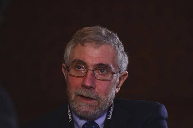 Paul Krugman, the 2008 Nobel Prize-winning economist , was speaking at the Hindustan Times Leadership summit. Photo: Ramesh Pathania/Mint