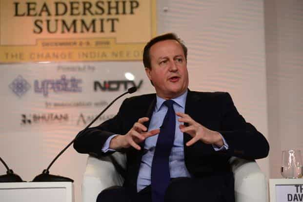 David Cameron, who stepped down earlier this year when UK decided on Brexit after a referendum, voiced support for idea of referendums to decide major issues. Photo: Ramesh Pathania/Mint