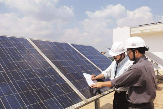 India has a total 8.7 GW of solar power generation capacity at the moment. Photo: Hemant Mishra/Mint