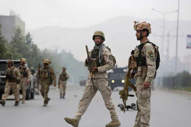 A file photo of Afghan security forces. Photo: AP