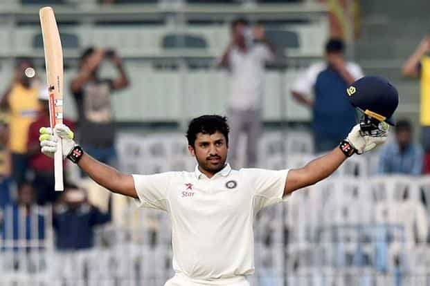 Karun Nair's triple ton was also the highest score for an Indian batsman who scored his maiden Test hundred. Photo: PTI