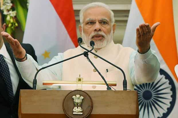File photo. PM Narendra Modi said his government will not shy away from taking difficult decisions like demonetisation in the long-term interest of the country. Photo: PTI