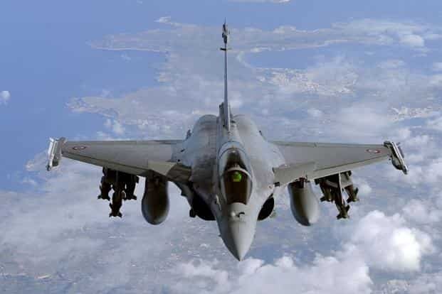 India spends approximately 40% of its total defence budget on capital acquisitions, and about 60% of defence requirements are met through imports. Above, a file photo of French Rafale fighter jet.  Photo: AFP