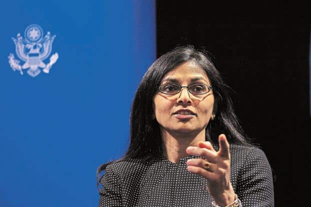 Nisha Desai Biswal, an Indian-American official, in the outgoing Obama administration. Photo: Reuters