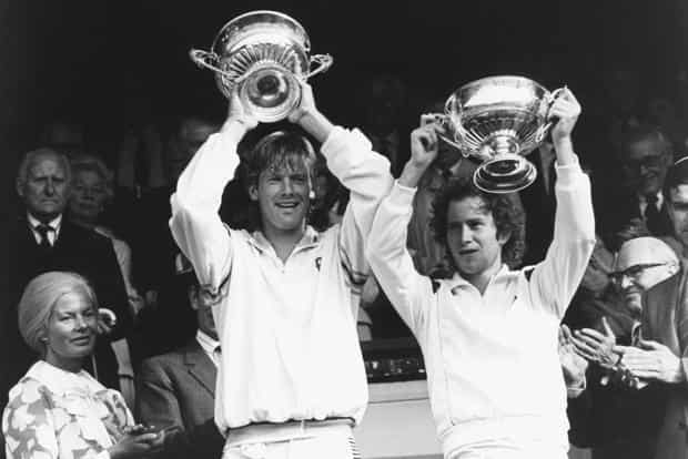John McEnroe (right) and Peter Fleming. Photo: Getty Images