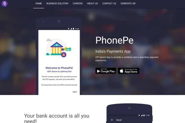 PhonePe is Flipkart's electronic wallet service and has a tie up with Yes Bank to provide UPI services.