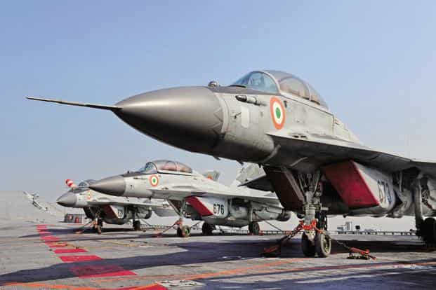 Indian Navy is also eyeing fighter jets for its aircraft carriers, which could be worth another $15 billion. Photo: