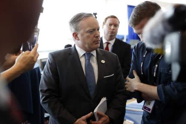 Sean Spicer, press secretary White House. Photo: AP
