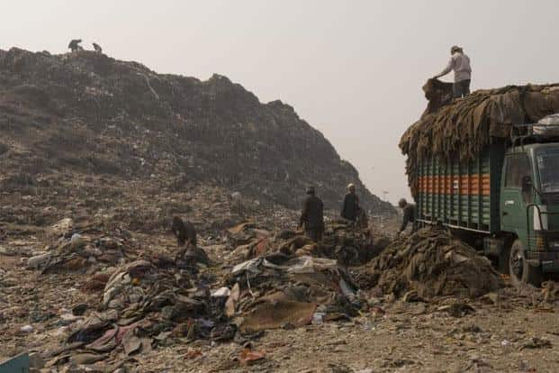 The garbage dump in Ghazipur. Photo: Hindustan Times